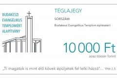 Téglajegy 10.000 forint