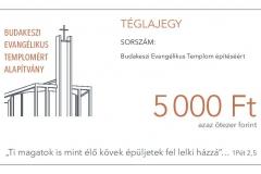 Téglajegy 5.000 forint