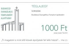 Téglajegy 1.000 forint